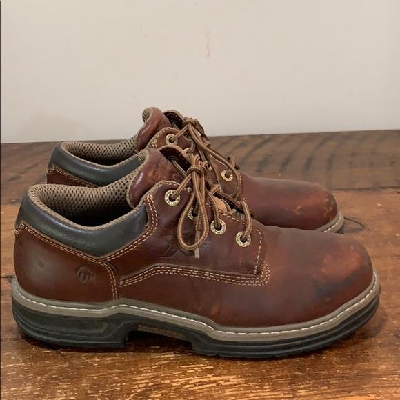 Wolverine Raider Steel Toe Oxford Work Shoes Sz 9